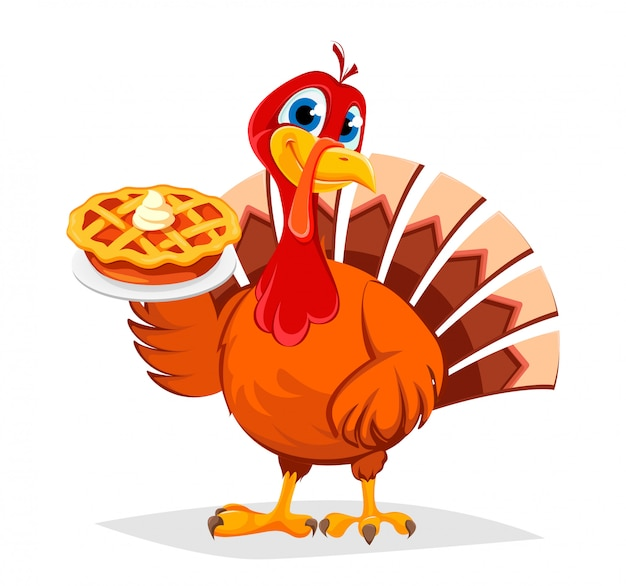 Thanksgiving kalkoen. happy thanksgiving day.