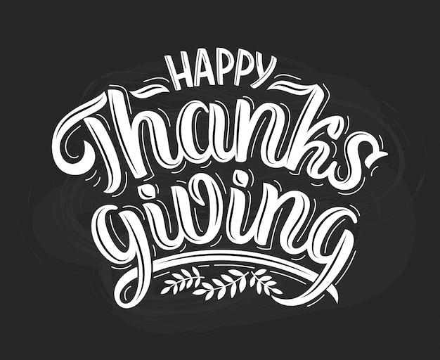 Thanksgiving kalligrafie