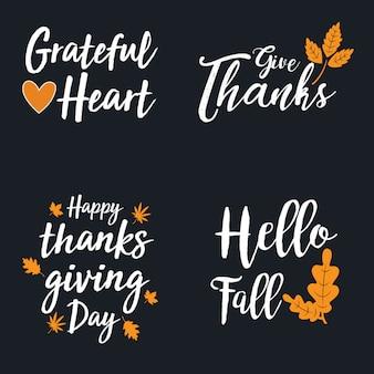 Thanksgiving logo collection