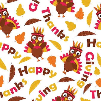 Thanksgiving patroon ontwerp