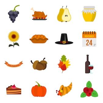 Thanksgiving pictogrammen instellen
