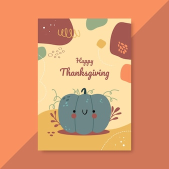 Thanksgiving poster sjabloon