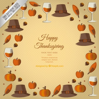 Thanksgiving template achtergrond