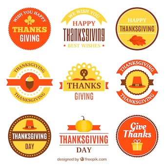 Thanksgiving vintage sticker collectie