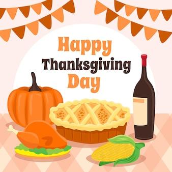 Thanksgiving voedsel achtergrondontwerp
