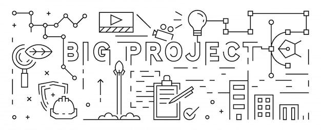 The big project line art design