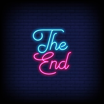The end neon-stijl