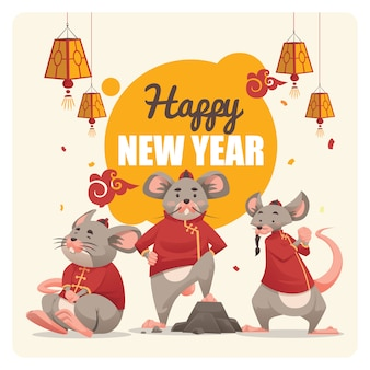 The gank of rat chinees nieuwjaar