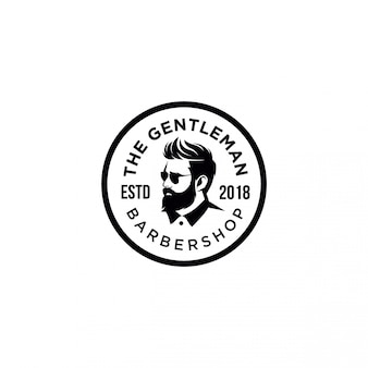 The gentle man barber shop embleem logo