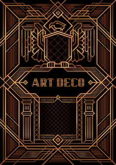 The great gatsby deco style vector