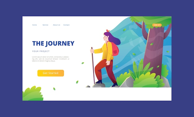 The journey landing page