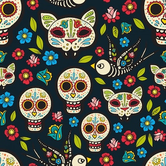 The seamless van day of the dead,