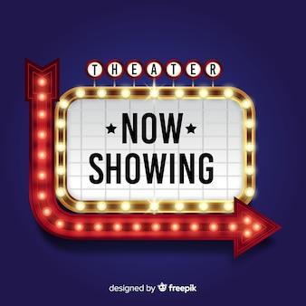 Theater billboard sign