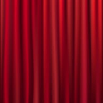 Theater fluwelen gordijn met lichten en schaduwen, illustratie
