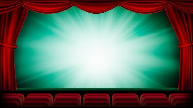 Theater gordijn achtergrond