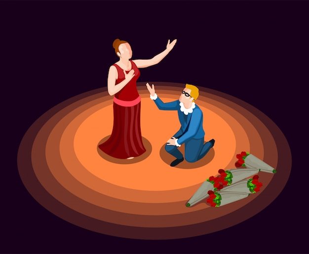 Theater isometrisch pictogram