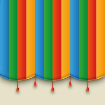 Theater kleurrijk gordijn