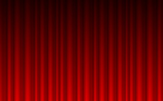 Theater rode gordijn achtergrond