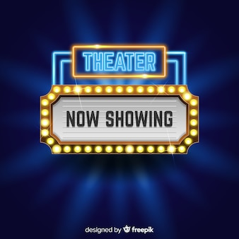 Theater teken achtergrond