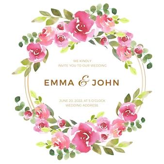 Thema van bloemenframe voor huwelijk
