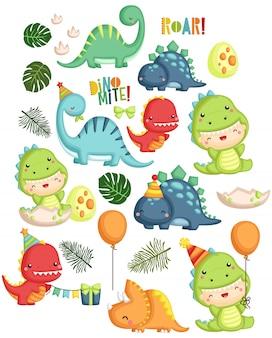 Thema van de verjaardag van de dinosaurus