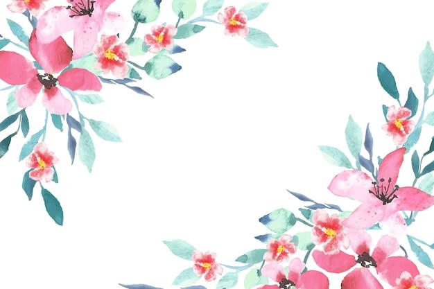 Thema van het waterverf het kleurrijke bloemenbehang