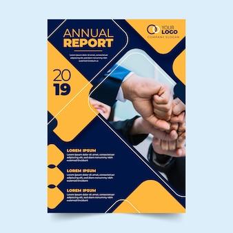 Thema voor jaarlijkse rapportsjabloon met foto