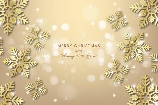 Thematisch behang met kerstmisconcept