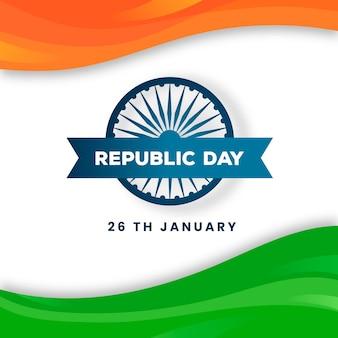 Thematisch teken op de dag van de indische republiek