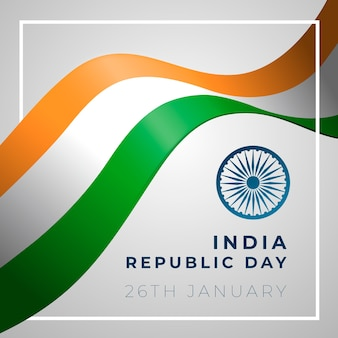 Thematische tekening met indische republiekdag