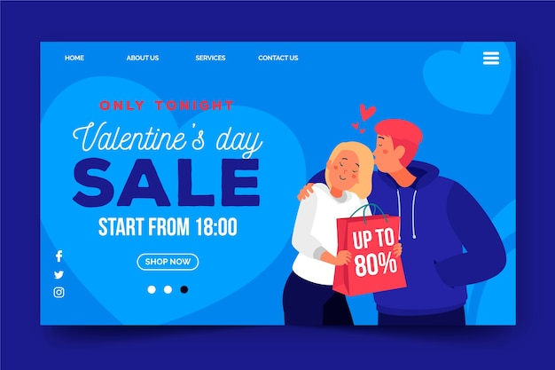 Thematische websjabloon met verkoopaanbieding