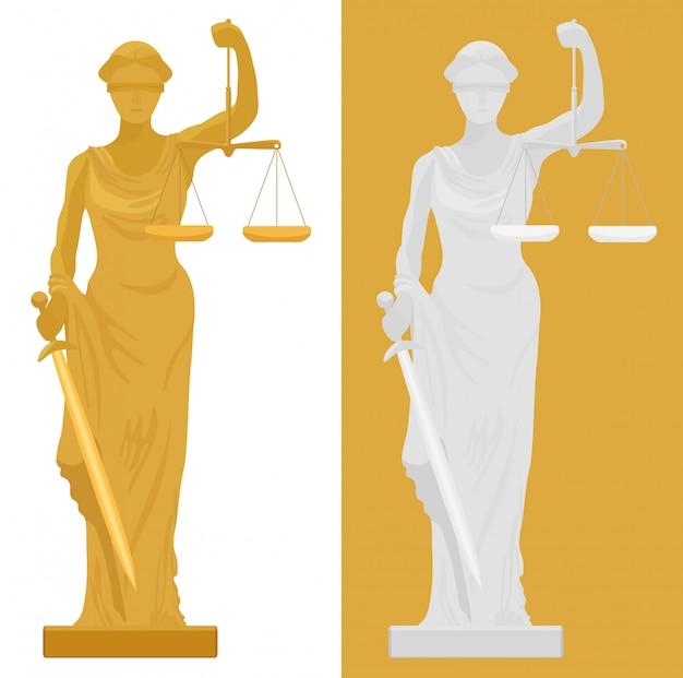 Themis femida-standbeeld