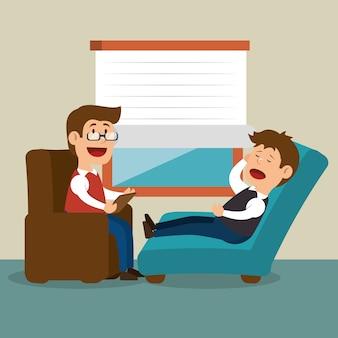 Therapeut sessie man probleem mentaal