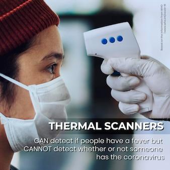 Thermische scanners kunnen geen informatie over asymptomatische gevallen detecteren door de who-vector