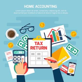 Thuis boekhoudsamenstelling