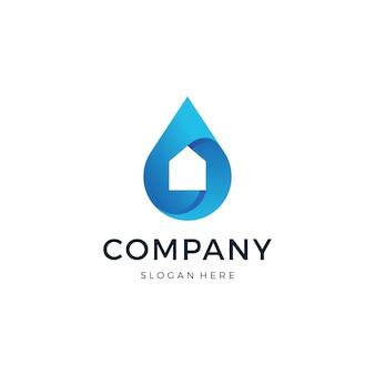 Thuis drop logo ontwerp vector