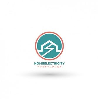 Thuis elektriciteit template logo
