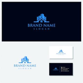 Thuis en gebouw vector logo