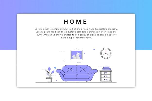 Thuis illustratie
