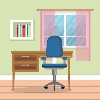 Thuis kantoor plaats huis