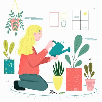 Thuis tuinieren concept