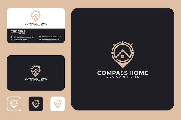 Thuislocatie logo ontwerp en visitekaartje