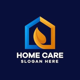 Thuiszorg gradiënt logo ontwerp