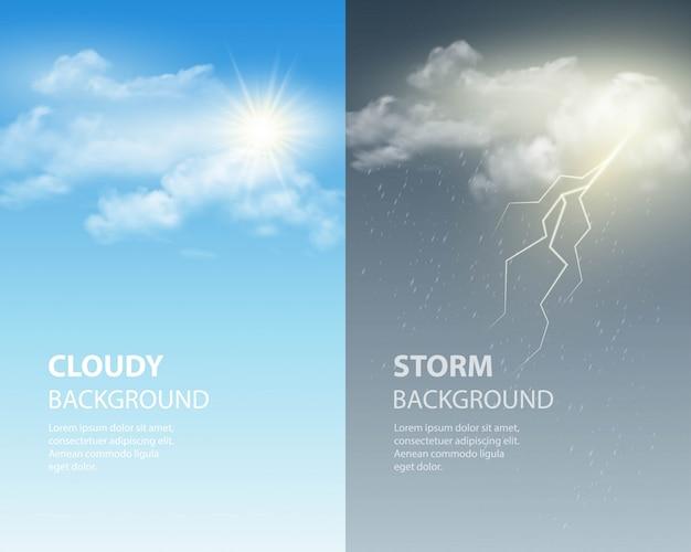 Thunder en bliksem achtergrond