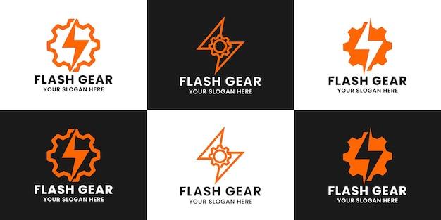 Thunder gear inspiratie logo-ontwerp