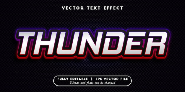 Thunder-teksteffect, bewerkbare tekststijl