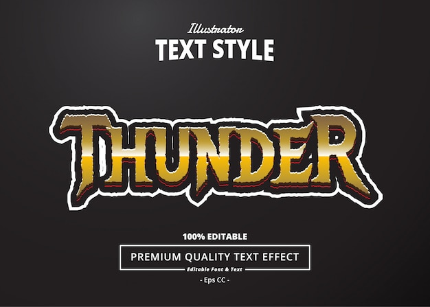Thunder text effect