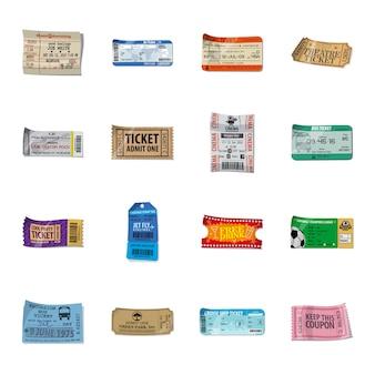 Ticket cartoon pictogramserie.