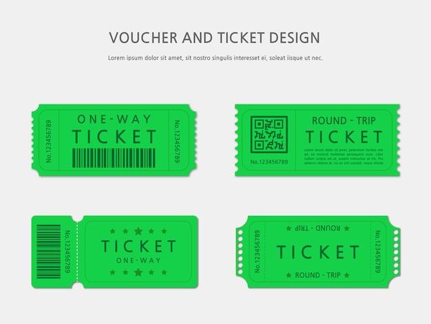 Ticket of voucher sjabloonontwerp