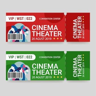 Ticket sjabloon bioscoop theater